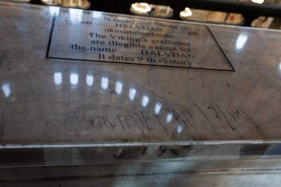 Norse tagging inside Hagia Sophia