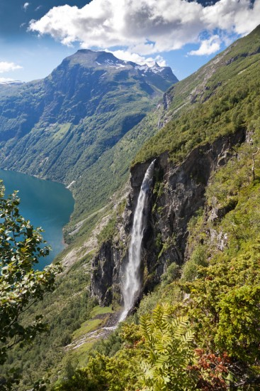 Waterfall in Geiranger