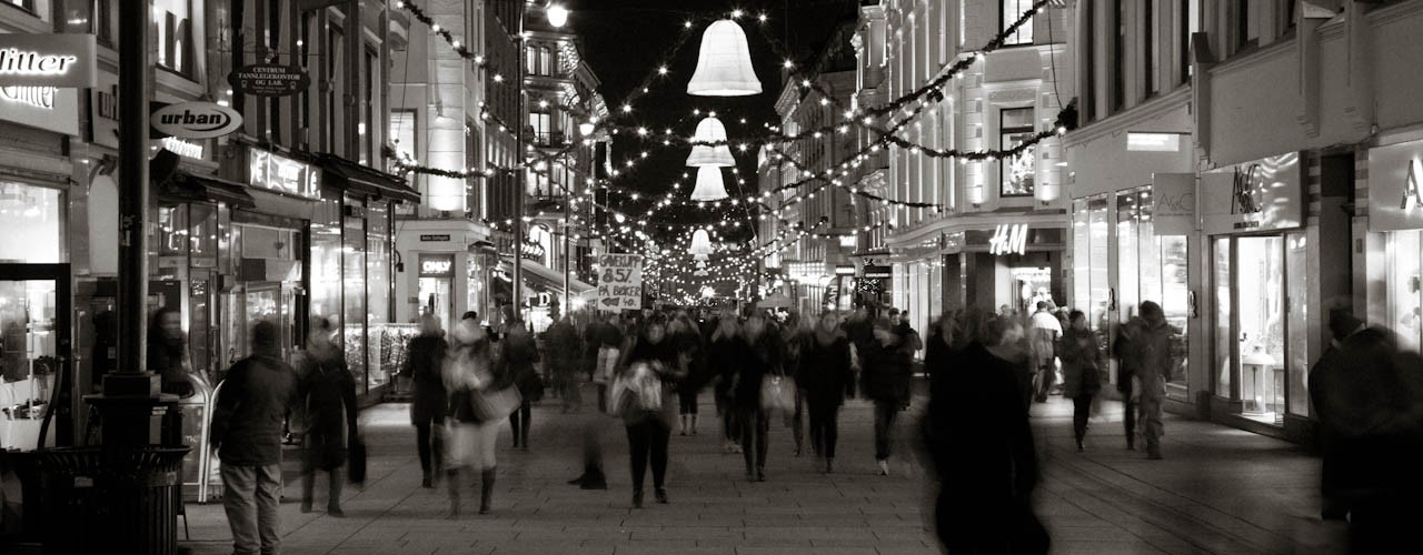 Christmas shopping in Oslo