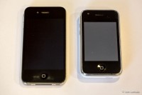 iPhone 4 (a real one) next to the Not-An-iPhone