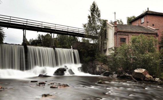 Waterfall, Aker river, Stilla, Oslo