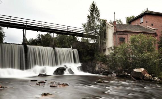 Waterfall, Aker river, Stilla, Oslo