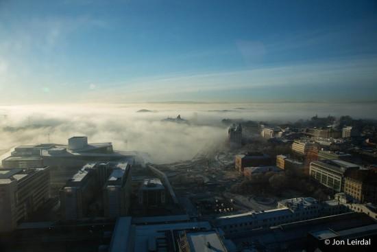 Sun above fog