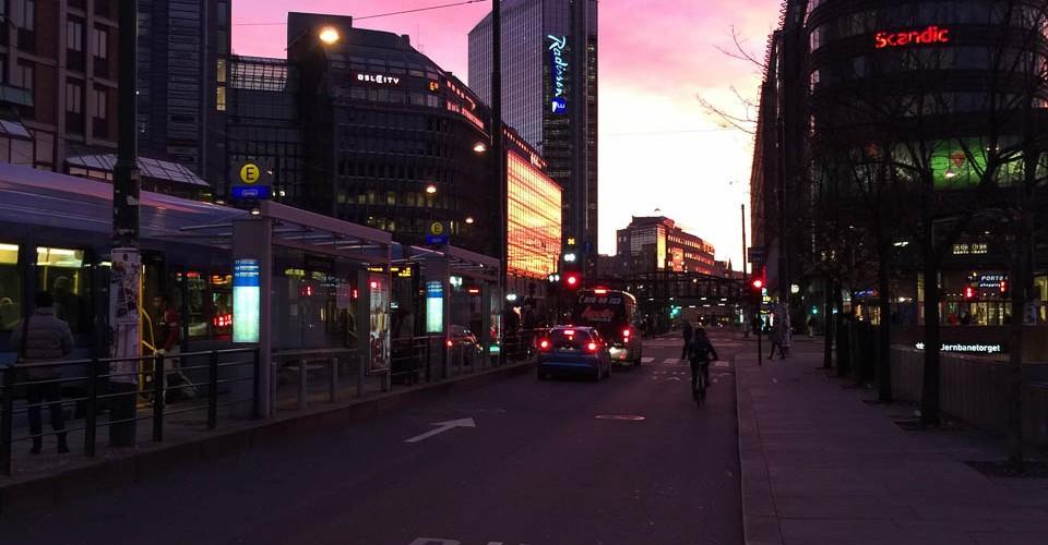Oslo an early october morning - colour version